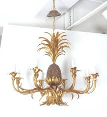 chandeliers vintage hollywood regency faux bamboo paa within pineapple chandelier gallery 22 of