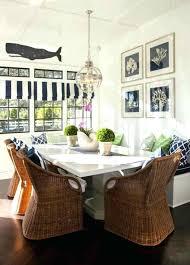 breakfast nook chandelier with wicker chair and nautical decor kitchen chandeliers nautica breakfast nook chandelier