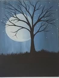 moon tree tree at night full moon night moon blue moon night sky moon painting tree painting moon landscape