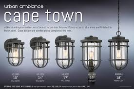 diy urban ambiance uql1001 nautical outdoor wall light cage pendant black sand finish cape town collection web a2 fixtures cafe string industrial flood