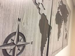 large carved wooden map customize with your own quote 3 panel map on custom wood wall art decor with large carved wooden map customize with your own quote 3 panel map