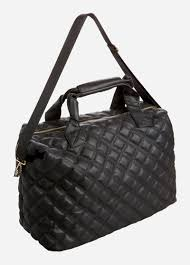Bags, Suitcases, and Accessories - Quilted Weekender Bag & Quilted Weekender Bag, Black. + Zoom Adamdwight.com