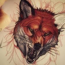 значение татуировки с лисой эскизы татурф