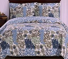 tropical quilts and coverlets. Fine Tropical Finely Stitched Coverlet Quilt Sham Set TwinXl Twin Size Extra Long Single  Bed Blue Inside Tropical Quilts And Coverlets E