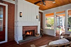 clear fireplace screens sunroom traditional with white fireplace mantel traditional freestanding stoves