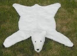 polar bear skin rug white plush faux fur bear skin rug
