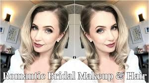 romantic bridal makeup hair tutorial for pale skin