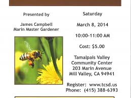 marin master gardeners present the secret lives of bees