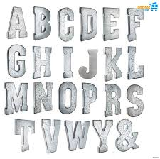 details about galvanized metal letter wall decor large 20 vintage letters industrial