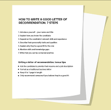 7 Steps To Compose Powerful Letter Of Recommendation