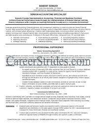 Resume Samples For Experienced Accounts Professionals Inspirationa