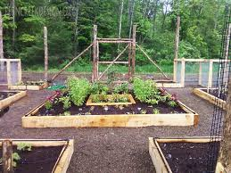 raised bed vegetable garden installation