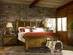 rustic master bedroom ideas with king size bed and nice rugs