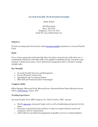 Ideas Of Sample Resume For Accounting Clerk Accounting Clerk Resume