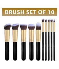 forever 21 synthetic makeup brush set of 10 pcs forever 21 synthetic makeup brush set of 10 pcs at best s in india snapdeal