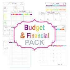 Bills Calendar Template Printable Budget Planner Pack Bill Tracker ...