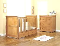 oak toddler bed east coast sleigh cot with draws solid wood