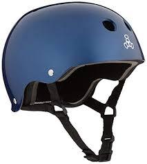 Triple 8 Brainsaver Size Chart Triple 8 Standard Liner Skateboarding Helmet Blue Metallic L