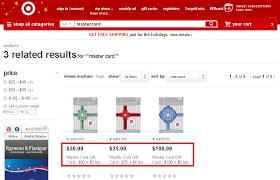target mastercard gift card