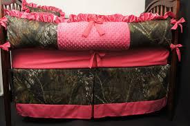Image of: Pink Camo Crib Bedding