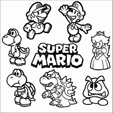 All Mario Characters Coloring Pages At Getdrawingscom Free For