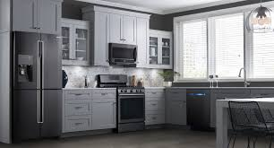 Kitchen Colors Black Appliances Black Appliances White Cabinets Kitchens Monsterlune