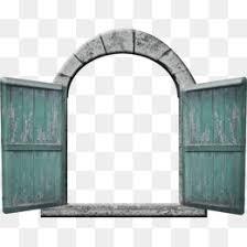 retro door open door dark green door old door png image and clipart