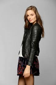 Lyst - Urban outfitters Muubaa Abila Quilted Leather Moto Jacket ... & Gallery Adamdwight.com
