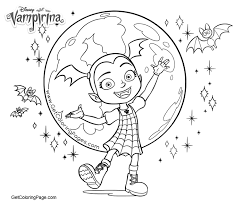 Moon And Vampirina Coloring Pages Get Coloring Page