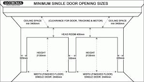 single car garage door height