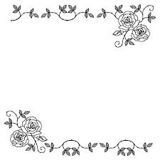 バラ フレーム 白黒の画像検索結果 仕事素材 白黒フレーム無料