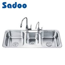 China Triple Bowl Stainless Steel Kitchen Sinks China Triple