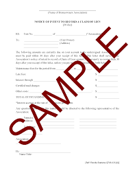 Notice Of Intent To Record A Claim Of Lien Hoa Member Services