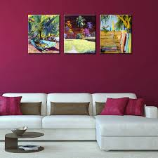 3 piece canvas wall art sets abstract tropical plants canvas prints painting decorative picture for living on tropical wall art sets with 3 piece canvas wall art sets abstract tropical plants canvas prints