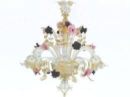 vintage pink murano chandelier designs