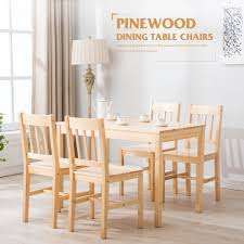 dining room table and chair sets unique modern pine wood dining table set with 4 chairs kitchen dining room