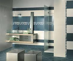 Interior: Inspiring Blue And White Bathroom Decoration Using Light ...