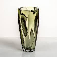 <b>Ваза Барлей</b> 30,5 см хаки из хрусталя <b>Bohemia Crystalite</b>