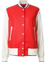 rag bone contrast er jacket red women clothing jackets rag bone denim skirts low guarantee