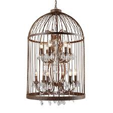 american country industrial wind wrought iron crystal bird cage chandelier nordic retro restaurant clothing stairs