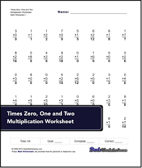 5 Times Table Mixed Multiplication Timed Test Worksheets Facts ...