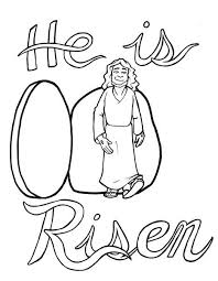 Jesus Is Risen Coloring Page Faith Coloring Pages Easter