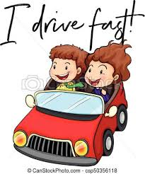 car driving fast clipart.  Fast Phrase I Drive Fast With Couple Driving Red Car  Csp50356118 Inside Car Driving Fast Clipart