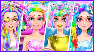 Rainbow Hair Salon Dress Up Game Bear Hug Android Gameplay