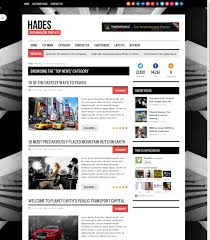 Online Newspaper Template Hades Bold Magazine Newspaper Template AceTheme 14