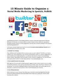 15 Minute Guide To Organize A Social Media Marketing In