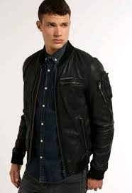 men s superdry leather jacket