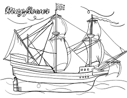 Free Mayflower Coloring Page