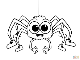 Small Picture Coloring Pages And Spiders Coloring Page Free Printable Pages