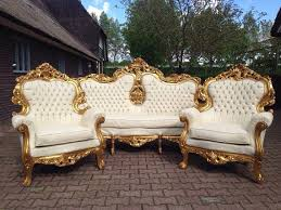 italian white furniture. Antique Italian Rococo 5 Piece Chair Tufted White Leather Fauteuil Bergere Sofa Settee Couch French Louis Furniture